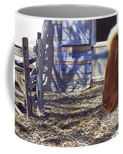 Farm Coffee Mug featuring the painting No Place Like Home by Denny Bond