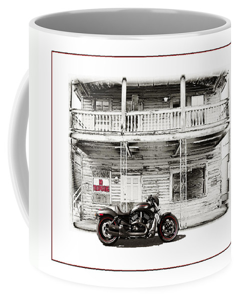 Harley Coffee Mug featuring the photograph No Trespassing by Mal Bray