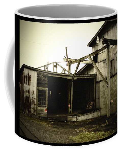 Warehouse Coffee Mug featuring the photograph No Trespassing by Tim Nyberg