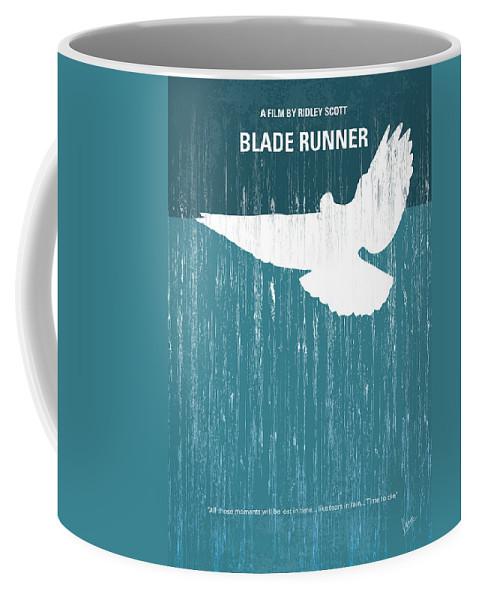 Blade Coffee Mug featuring the digital art No011 My Blade Runner minimal movie poster by Chungkong Art