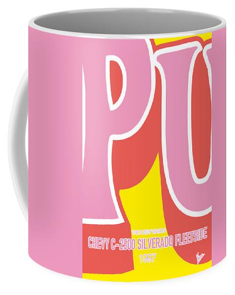 Chevy Coffee Mug featuring the digital art No013 My Kill Bill Minimal Movie Car Poster by Chungkong Art