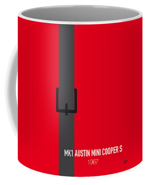 Mk1 Coffee Mug featuring the digital art No018 My The Italian Job Minimal Movie Car Poster by Chungkong Art