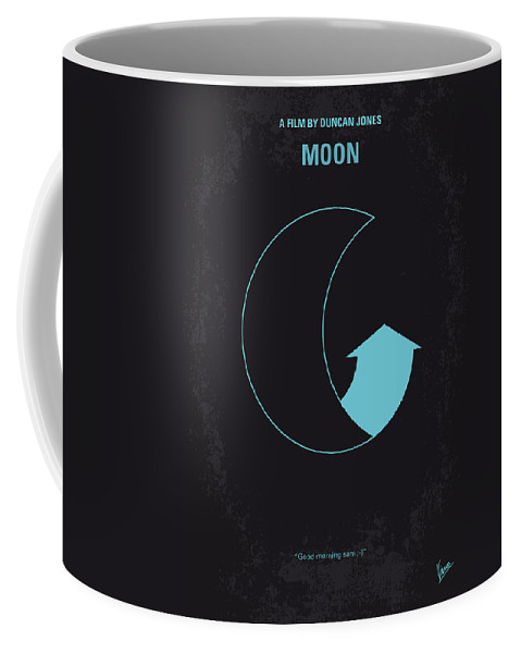 Moon Coffee Mug featuring the digital art No053 My Moon 2009 Minimal Movie Poster by Chungkong Art