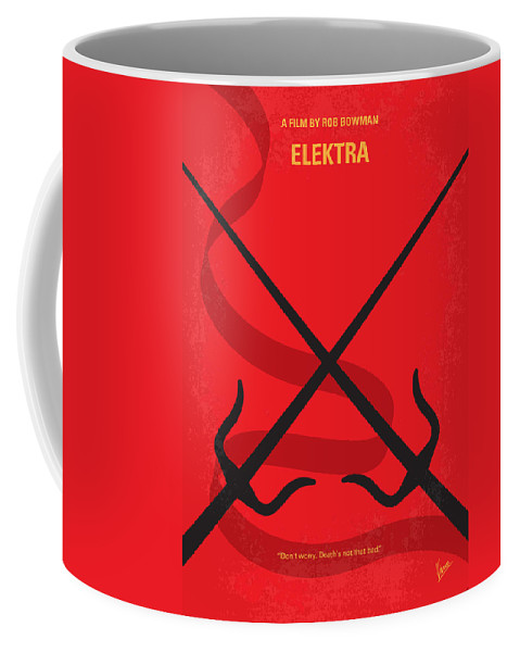 Elektra Coffee Mug featuring the digital art No060 My ELECTRA minimal movie poster by Chungkong Art