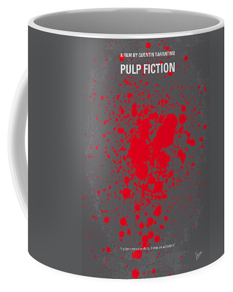 Pulp Coffee Mug featuring the digital art No067 My Pulp Fiction minimal movie poster by Chungkong Art
