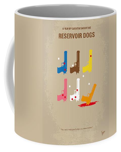 Reservoir Coffee Mug featuring the digital art No069 My Reservoir Dogs minimal movie poster by Chungkong Art
