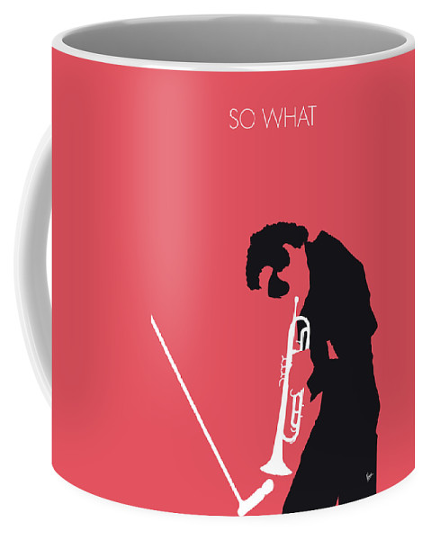 Miles Coffee Mug featuring the digital art No082 My Miles Davis Minimal Music Poster by Chungkong Art