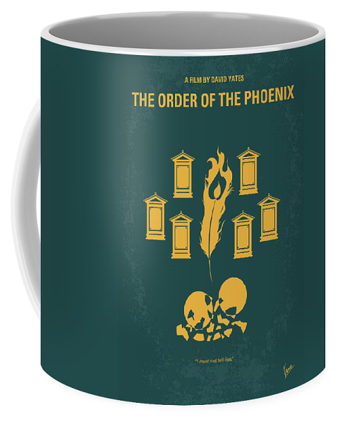 Order Coffee Mug featuring the digital art No101-5 My Hp - Order Of The Phoenix Minimal Movie Poster by Chungkong Art