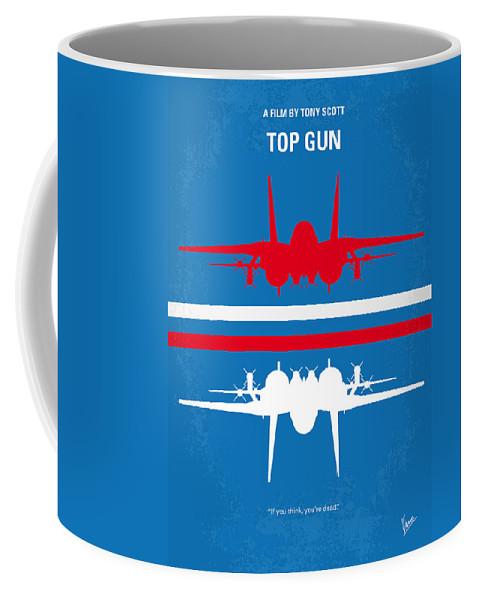 Top Coffee Mug featuring the digital art No128 My TOP GUN minimal movie poster by Chungkong Art