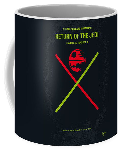Star Coffee Mug featuring the digital art No156 My STAR WARS Episode VI Return of the Jedi minimal movie poster by Chungkong Art
