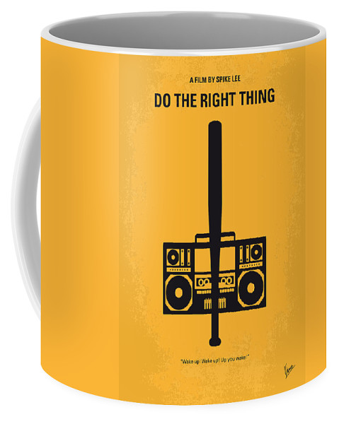 Do The Right Thing Coffee Mug featuring the digital art No179 My Do The Right Thing Minimal Movie Poster by Chungkong Art