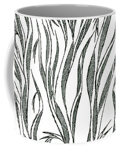 Abstract Coffee Mug featuring the drawing No.18 by Robert Nickologianis