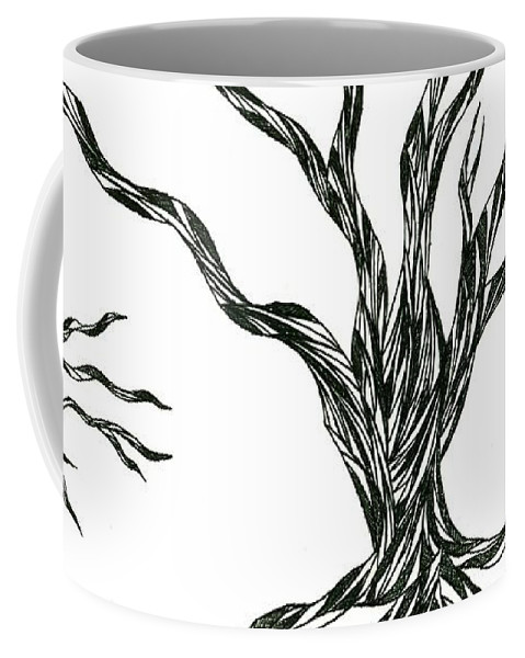 Abstract Coffee Mug featuring the drawing No.29 by Robert Nickologianis
