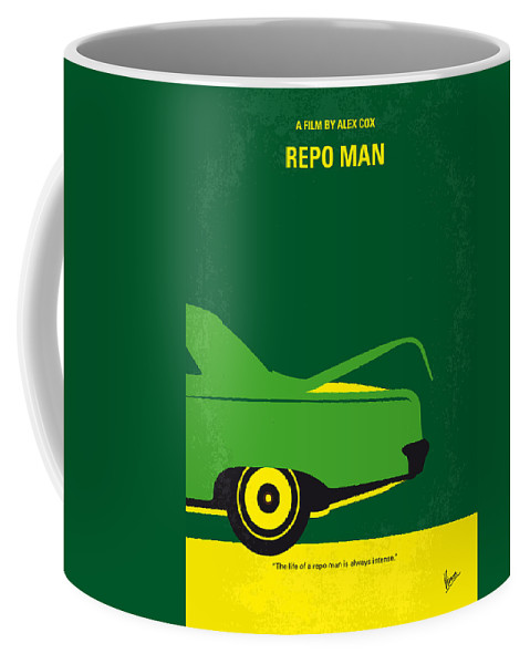 Repo Coffee Mug featuring the digital art No478 My Repo Man Minimal Movie Poster by Chungkong Art