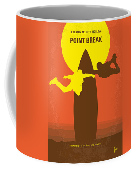 Point Coffee Mug featuring the digital art No455 My Point Break minimal movie poster by Chungkong Art