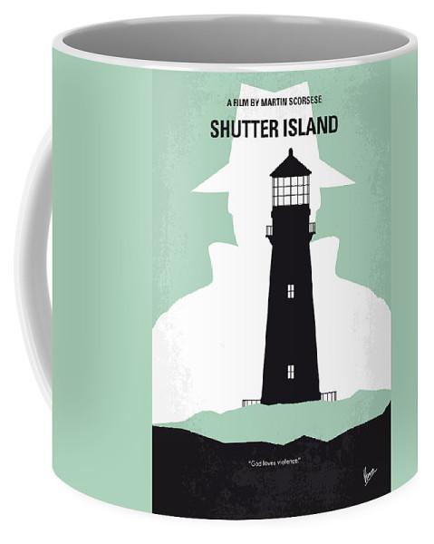 Shutter Coffee Mug featuring the digital art No513 My Shutter Island Minimal Movie Poster by Chungkong Art
