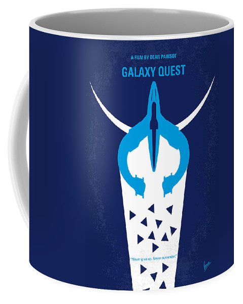 Galaxy Coffee Mug featuring the digital art No551 My Galaxy Quest Minimal Movie Poster by Chungkong Art