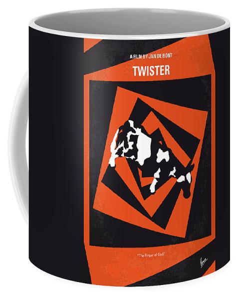 Twister Coffee Mug featuring the digital art No560 My Twister Minimal Movie Poster by Chungkong Art