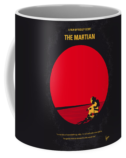 The Coffee Mug featuring the digital art No620 My The Martian Minimal Movie Poster by Chungkong Art