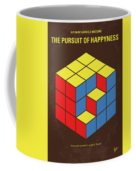 The Coffee Mug featuring the digital art No775 My The Pursuit Of Happyness Minimal Movie Poster by Chungkong Art