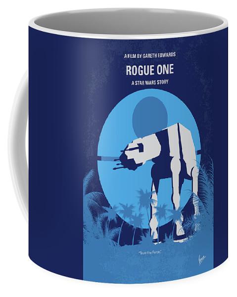 Rogue Coffee Mug featuring the digital art No819 My Rogue One Minimal Movie Poster by Chungkong Art