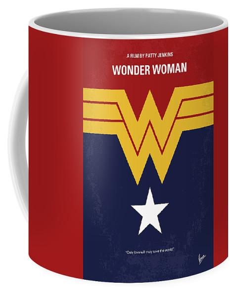 Wonder Coffee Mug featuring the digital art No825 My Wonder Woman Minimal Movie Poster by Chungkong Art