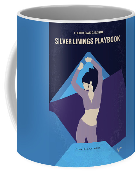Silver Coffee Mug featuring the digital art No832 My Silver Linings Playbook Minimal Movie Poster by Chungkong Art