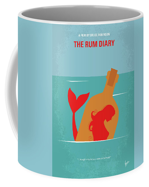 The Coffee Mug featuring the digital art No925 My The Rum Diary Minimal Movie Poster by Chungkong Art