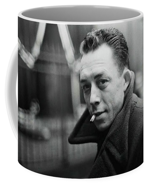 Nobel Prize Winning Writer Albert Camus Unknown Date #2 -2015 Coffee Mug featuring the photograph Nobel Prize Winning Writer Albert Camus Unknown Date #2 -2015 by David Lee Guss