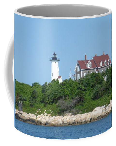 Woods Hole Coffee Mug featuring the photograph Nobska Point Lighthouse by Donna Walsh