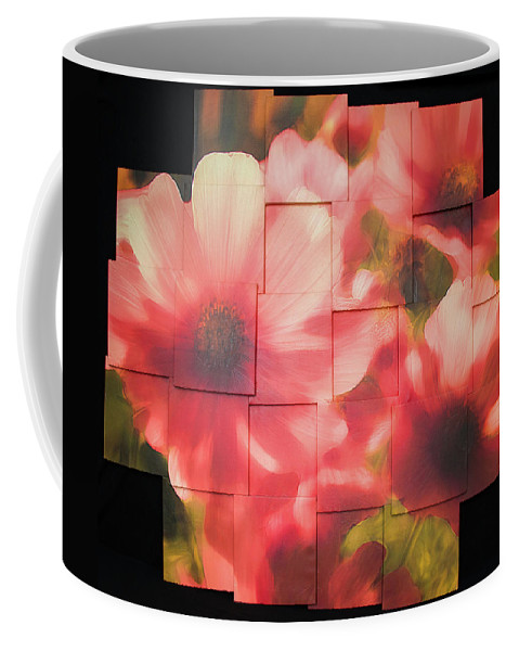 Flower Coffee Mug featuring the sculpture Nocturnal Pinks Photo Sculpture by Michael Bessler