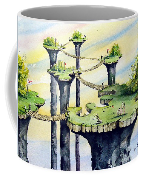 Golf Coffee Mug featuring the painting Nod Country Club by Sam Sidders