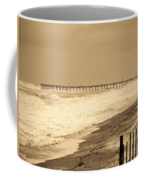 Ocean Coffee Mug featuring the photograph Nor'easter At Nags Head by Ches Black