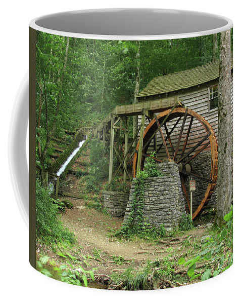 Grist Mill Coffee Mug featuring the photograph Rice Grist Mill II by Douglas Stucky