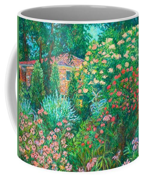 Garden Coffee Mug featuring the painting North Albemarle in McLean VA by Kendall Kessler
