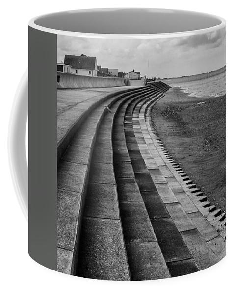 Monochromephotography Coffee Mug featuring the photograph North Beach, Heacham, Norfolk, England by John Edwards
