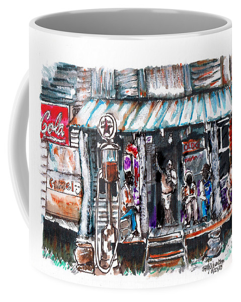 Depression Coffee Mug featuring the digital art North Carolina 1939 The Depression by Seth Weaver