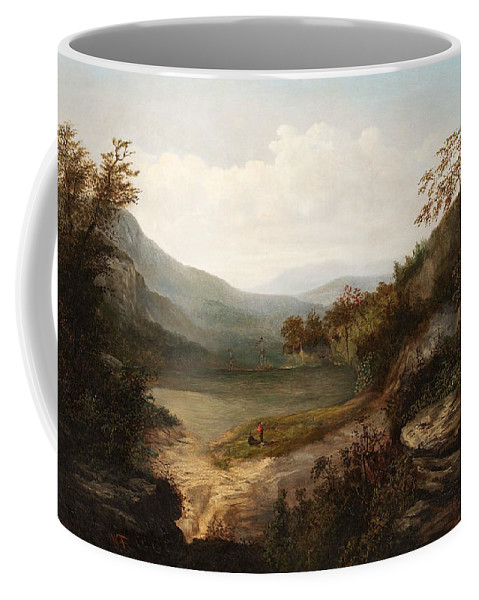 American Art Coffee Mug featuring the painting North Carolina Mountain Landscape by William Charles Anthony Frerichs