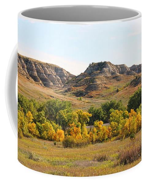 North Dakota Badlands Coffee Mug featuring the photograph North Dakota Badlands 9102 by Jack Schultz