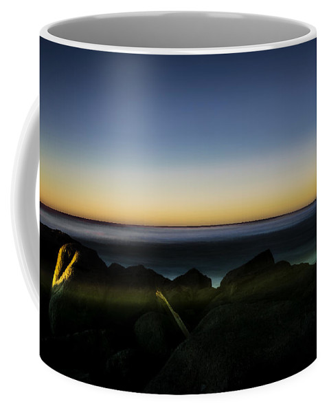 Sunset North Jetty Ocean Shores Washington State Beach Beautiful Sand Wilderness Outside Pnw Outdoors Pacific Northwest Explore View Views Quest Live Authentic Outbound Coffee Mug featuring the photograph North Jetty 2 by Pelo Blanco Photo