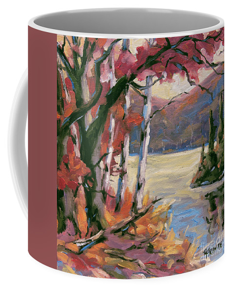 Art Coffee Mug featuring the painting North Lake By Prankearts by Richard T Pranke