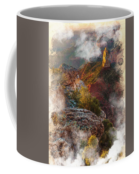 Decoration Coffee Mug featuring the digital art North Rim Of The Grand Canyon by Don Kuing