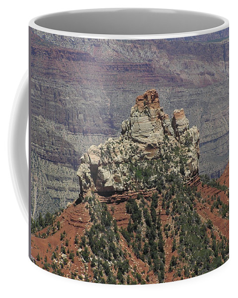 Rock Coffee Mug featuring the photograph North Rim Rock by Louise Magno