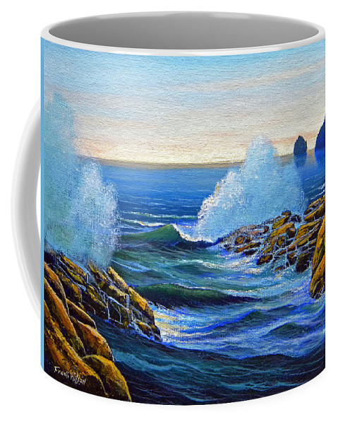 Ocean Coffee Mug featuring the painting North Shore by Frank Wilson