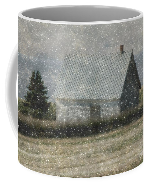 Cabin Coffee Mug featuring the painting North Shore Snowstorm by RC DeWinter