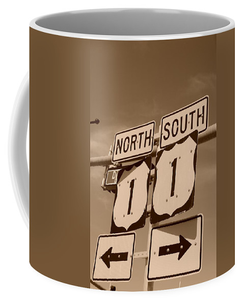 Sepia Coffee Mug featuring the photograph North South 1 by Rob Hans