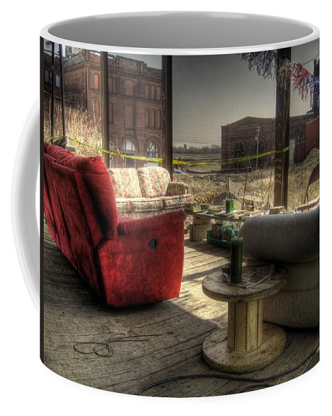 Hdr Coffee Mug featuring the photograph North St. Louis Porch by Jane Linders