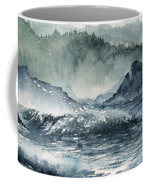 Ocean Coffee Mug featuring the painting Northern California Coast by Gale Cochran-Smith