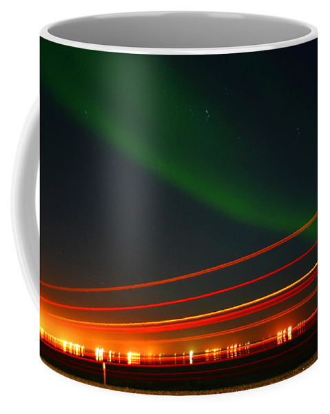 Northern Lights Coffee Mug featuring the photograph Northern Lights by Anthony Jones