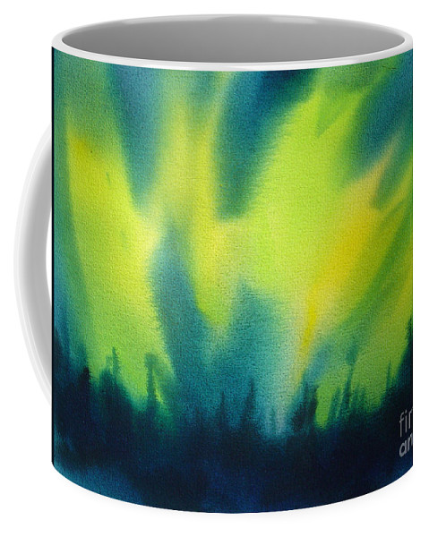 Paintings Coffee Mug featuring the painting Northern Lights I by Kathy Braud